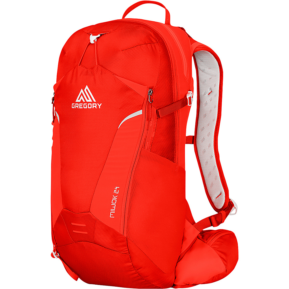 6564e941a753 Gregory Miwok 24 Hiking Backpack Citrus Red - Gregory Day Hiking Backpacks  - Outdoor