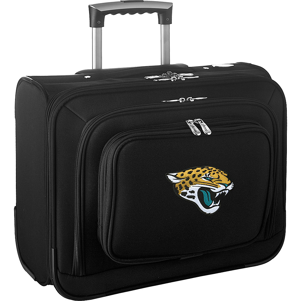 Denco Sports Luggage NFL 14 Laptop Overnighter Jacksonville Jaguars - Denco Sports Luggage Wheeled Business Cases - Work Bags & Briefcases, Wheeled Business Cases