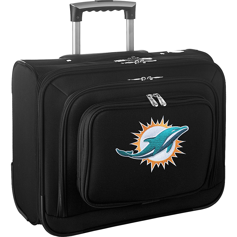 Denco Sports Luggage NFL 14 Laptop Overnighter Miami Dolphins - Denco Sports Luggage Wheeled Business Cases - Work Bags & Briefcases, Wheeled Business Cases