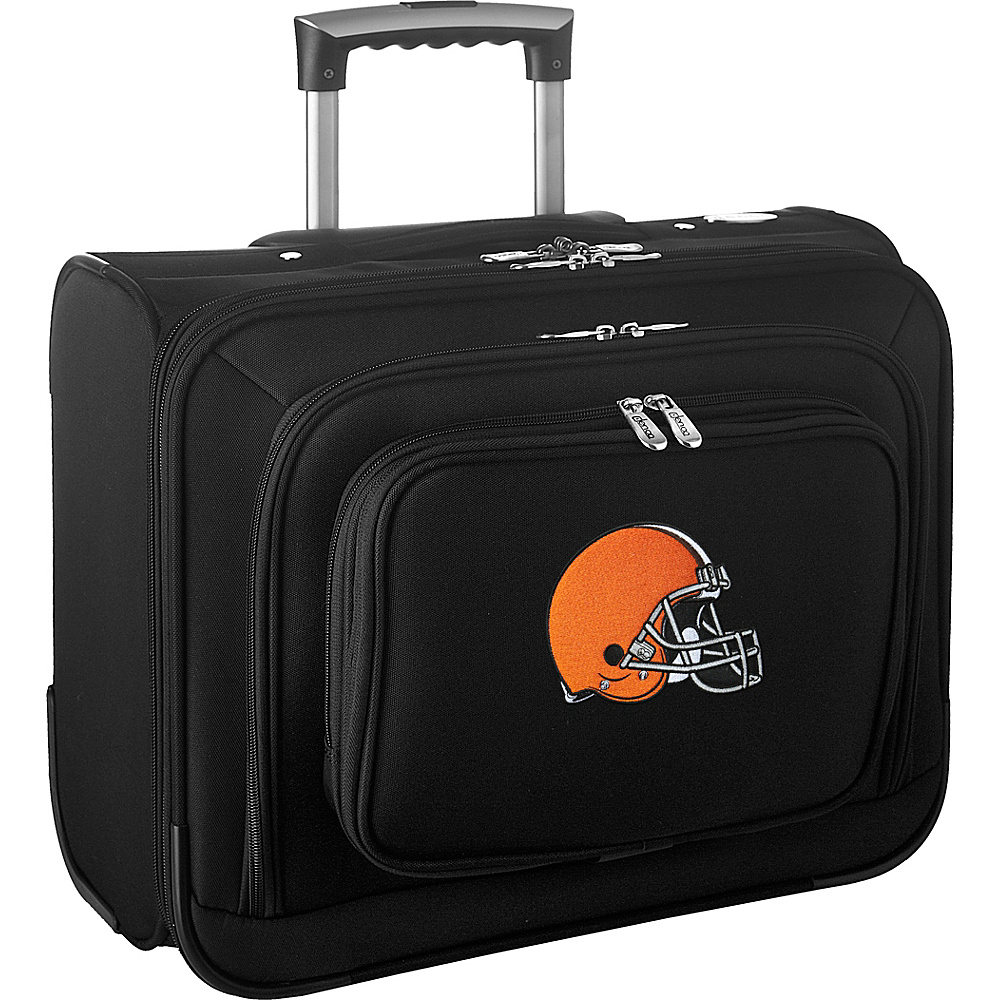Denco Sports Luggage NFL 14 Laptop Overnighter Cleveland Browns - Denco Sports Luggage Wheeled Business Cases - Work Bags & Briefcases, Wheeled Business Cases