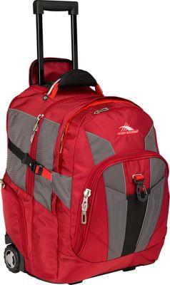 High Sierra XBT Wheeled Laptop Backpack Carmine Red, Red Line, Black - High Sierra Rolling Backpacks