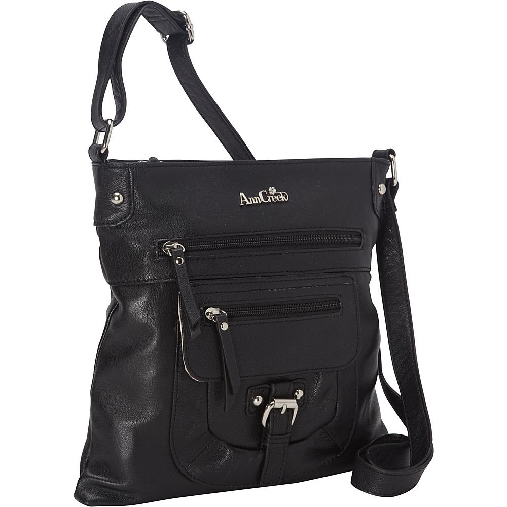 Ann Creek Glenford Satchel Black Ann Creek Leather Handbags