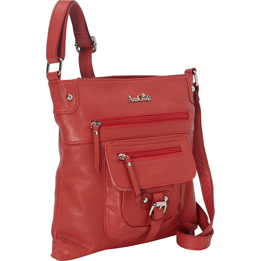 Ann Creek Glenford Satchel Burgundy Ann Creek Leather Handbags