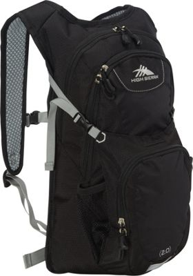 High Sierra Longshot 70 Hydration Pack Black/Black/Silver - High Sierra Hydration Packs and Bottles