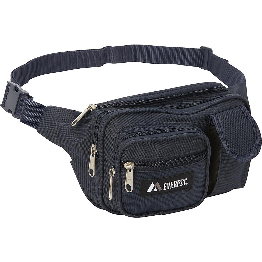 Everest Multiple Pocket Waist Pack Navy - Everest Waist Packs - Backpacks, Waist Packs