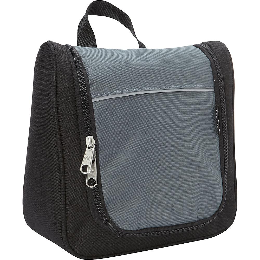 Everest Hanging Travel Toiletry Bag Gray/Black - Everest Toiletry Kits - Travel Accessories, Toiletry Kits