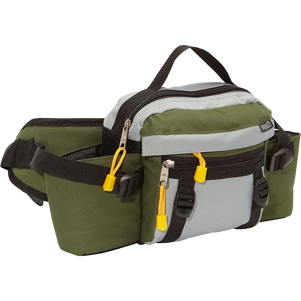 Everest Dual Squeeze Hydration Pack Moss/Grey/Black - Everest Waist Packs - Backpacks, Waist Packs