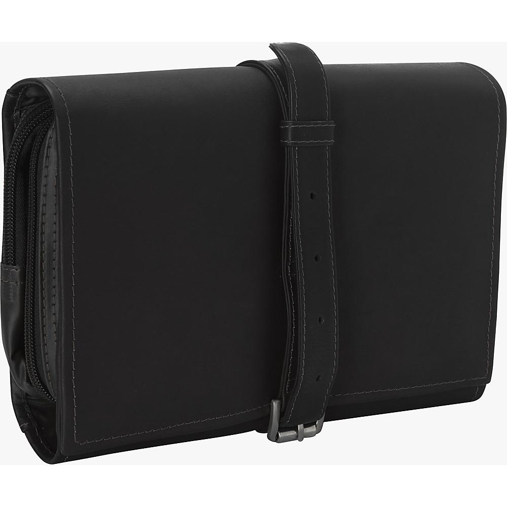 Piel Tri-Fold Bucket Toiletry Kit Black - Piel Toiletry Kits - Travel Accessories, Toiletry Kits