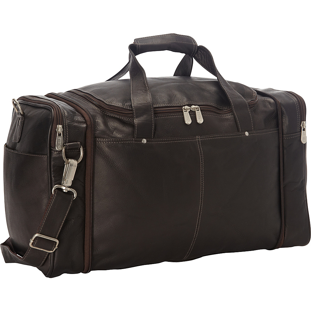 Piel Collapsible Duffel To Carry-All Chocolate - Piel Travel Duffels - Duffels, Travel Duffels