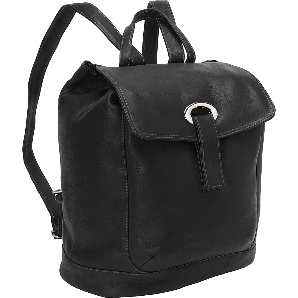 Piel Large Oval Loop Backpack Black - Piel Everyday Backpacks - Backpacks, Everyday Backpacks