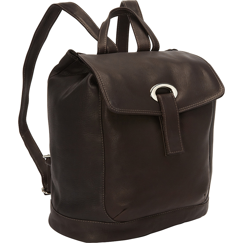 Piel Large Oval Loop Backpack Chocolate - Piel Everyday Backpacks - Backpacks, Everyday Backpacks
