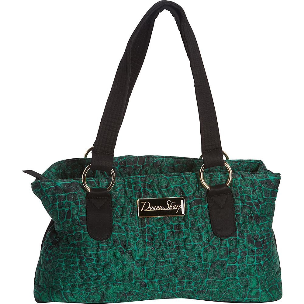 Donna Sharp Reese Bag Quilted Jade Donna Sharp Fabric Handbags