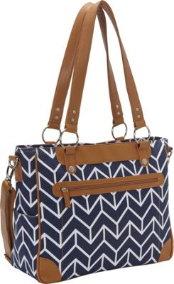 Kailo Chic Laptop and Camera Tote Navy Arrows - Kailo Chic Camera Accessories