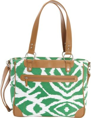 Kailo Chic Laptop and Camera Tote Emerald Ikat - Kailo Chic Camera Accessories