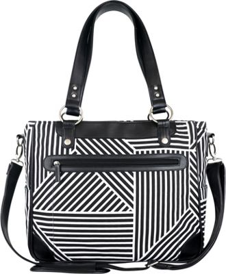 Kailo Chic Laptop and Camera Tote Black and White Lines - Kailo Chic Camera Accessories
