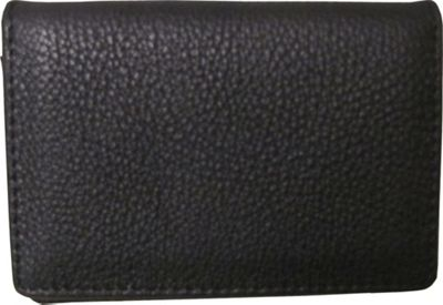AmeriLeather Leather ID and Business Card Holder Black - AmeriLeather Ladies Key/Card/Coins Cases