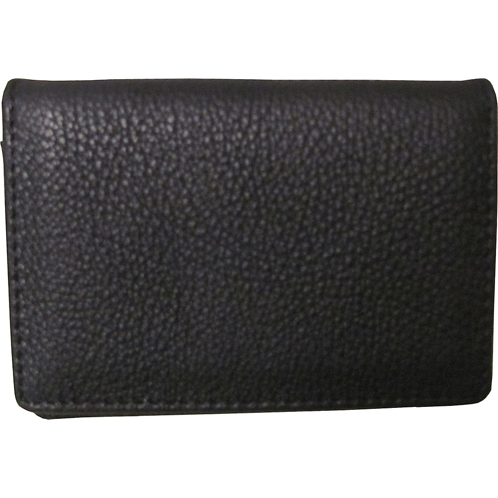 AmeriLeather Leather ID and Business Card Holder Black - AmeriLeather Womens SLG Other - Women's SLG, Women's SLG Other