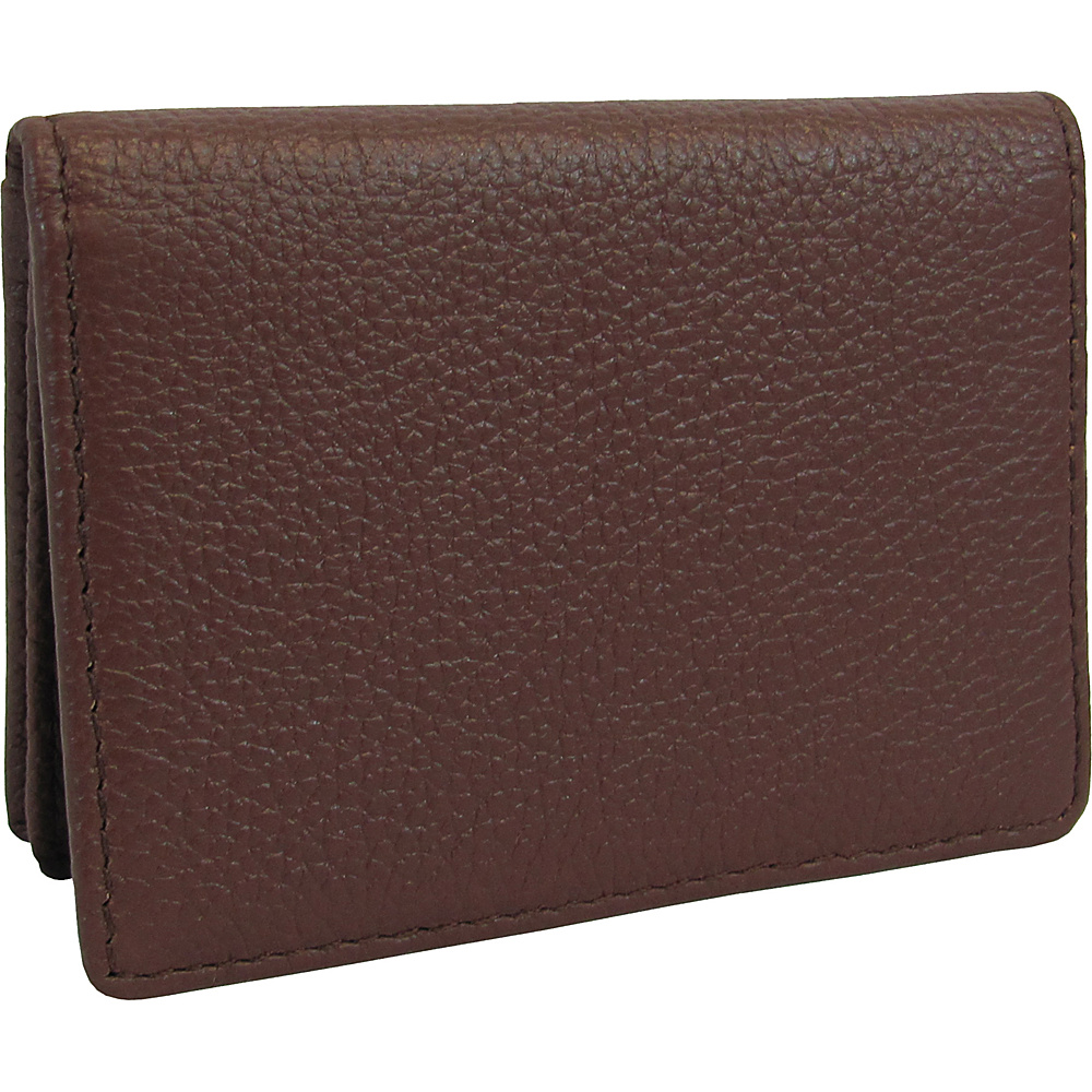 AmeriLeather Leather ID and Business Card Holder Brown - AmeriLeather Womens SLG Other - Women's SLG, Women's SLG Other