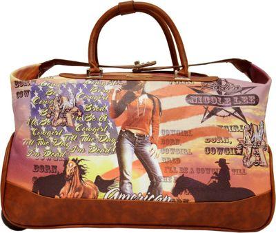 Nicole Lee Teresa Rolling Duffle, Special Print Edition Cowgirl Flag - Nicole Lee Rolling Duffels