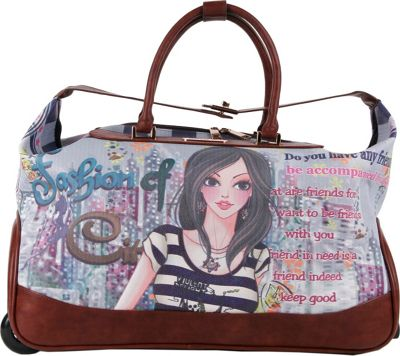 Nicole Lee Teresa Rolling Duffle, Special Print Edition DOLLY - Nicole Lee Rolling Duffels