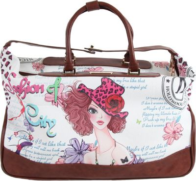 Nicole Lee Teresa Rolling Duffle, Special Print Edition Sunny White - Nicole Lee Rolling Duffels
