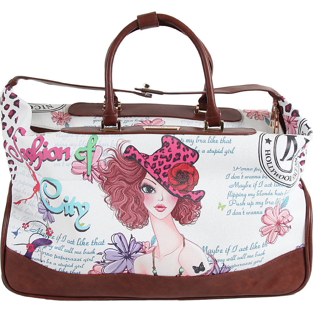 Nicole Lee Teresa Rolling Duffle Special Print Edition Sunny White Nicole Lee Rolling Duffels