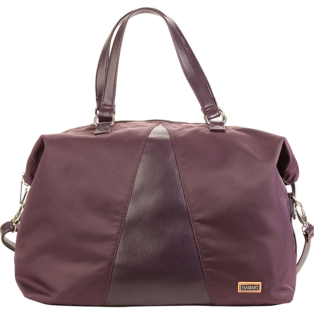 Hadaki Valerias Duffle Plum Perfect Solid - Hadaki Luggage Totes and Satchels - Luggage, Luggage Totes and Satchels