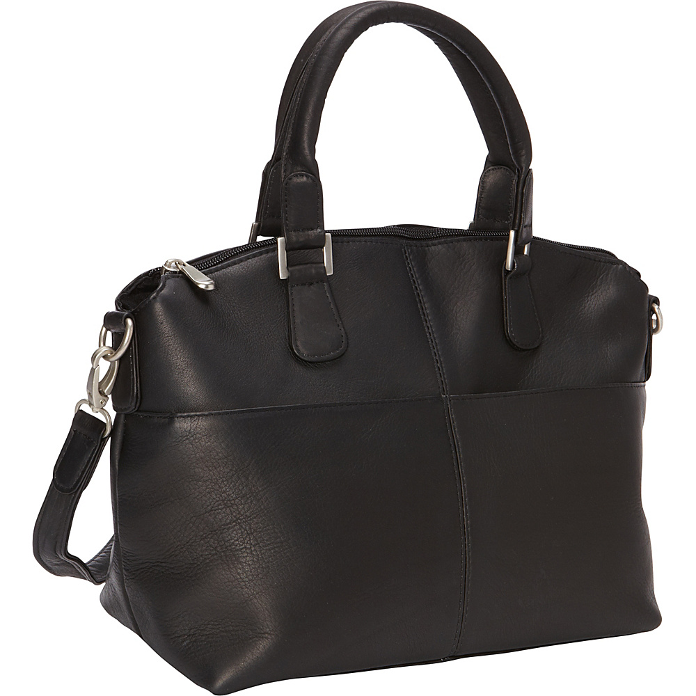 Le Donne Leather Esperanto Satchel Black - Le Donne Leather Leather Handbags - Handbags, Leather Handbags