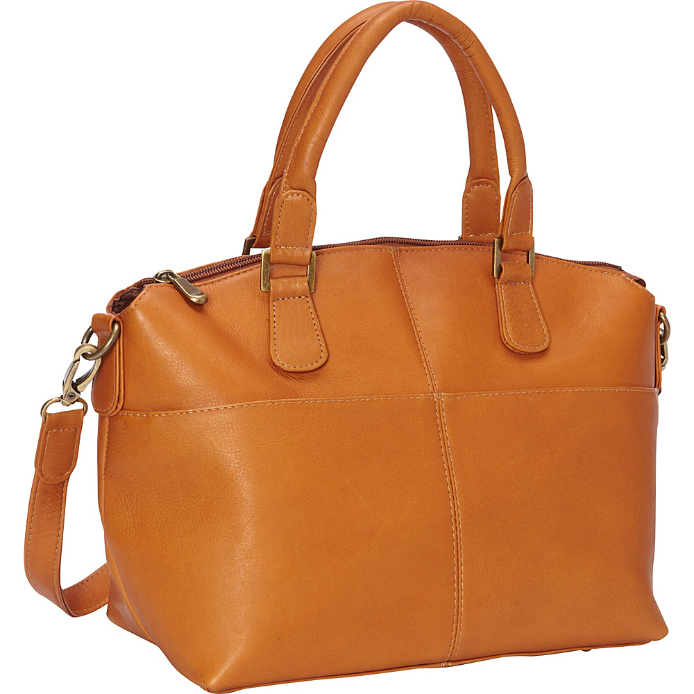 Le Donne Leather Esperanto Satchel Tan - Le Donne Leather Leather Handbags - Handbags, Leather Handbags