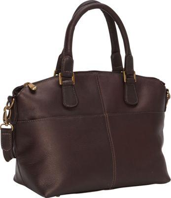 Le Donne Leather Esperanto Satchel Cafe - Le Donne Leather Leather Handbags