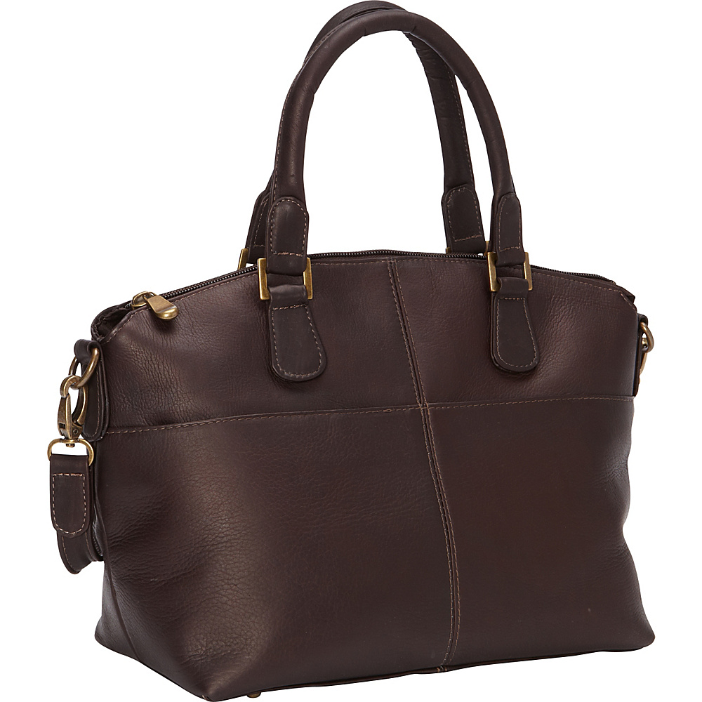 Le Donne Leather Esperanto Satchel Cafe - Le Donne Leather Leather Handbags - Handbags, Leather Handbags