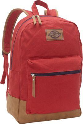 Dickies Hudson Cotton Canvas Backpack Scarlet Red - Dickies Everyday Backpacks