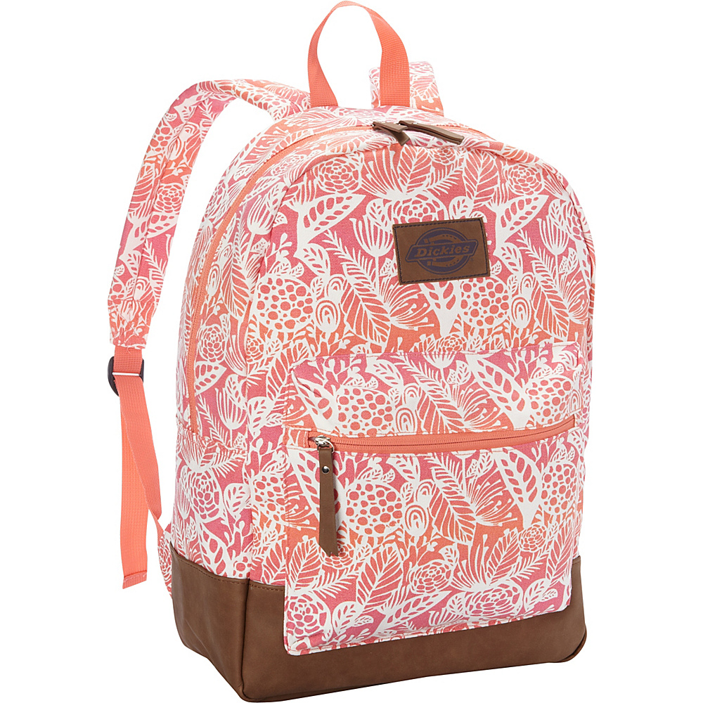 Dickies Hudson Cotton Canvas Backpack BIG FLORA OMBRE PINK ORANGE Dickies Everyday Backpacks