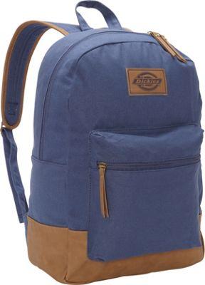 Dickies Hudson Cotton Canvas Backpack Navy - Dickies Everyday Backpacks