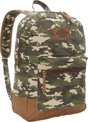 Dickies Hudson Cotton Canvas Backpack Washed Camo - Dickies Everyday Backpacks
