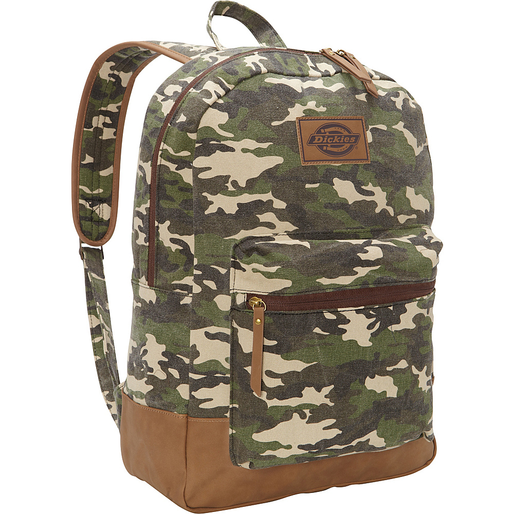 Dickies Hudson Cotton Canvas Backpack Washed Camo Dickies Everyday Backpacks
