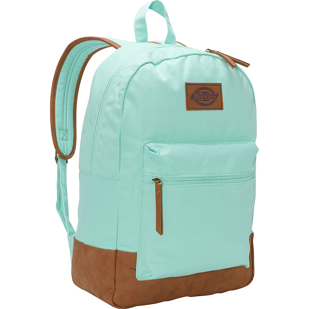 Dickies Hudson Cotton Canvas Backpack Mint Green Dickies Everyday Backpacks
