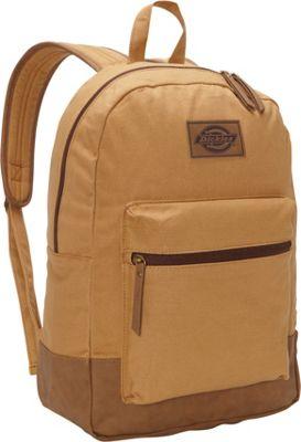 Image of Dickies Hudson Cotton Canvas Backpack Brown Duck - Dickies School & Day Hiking Backpacks