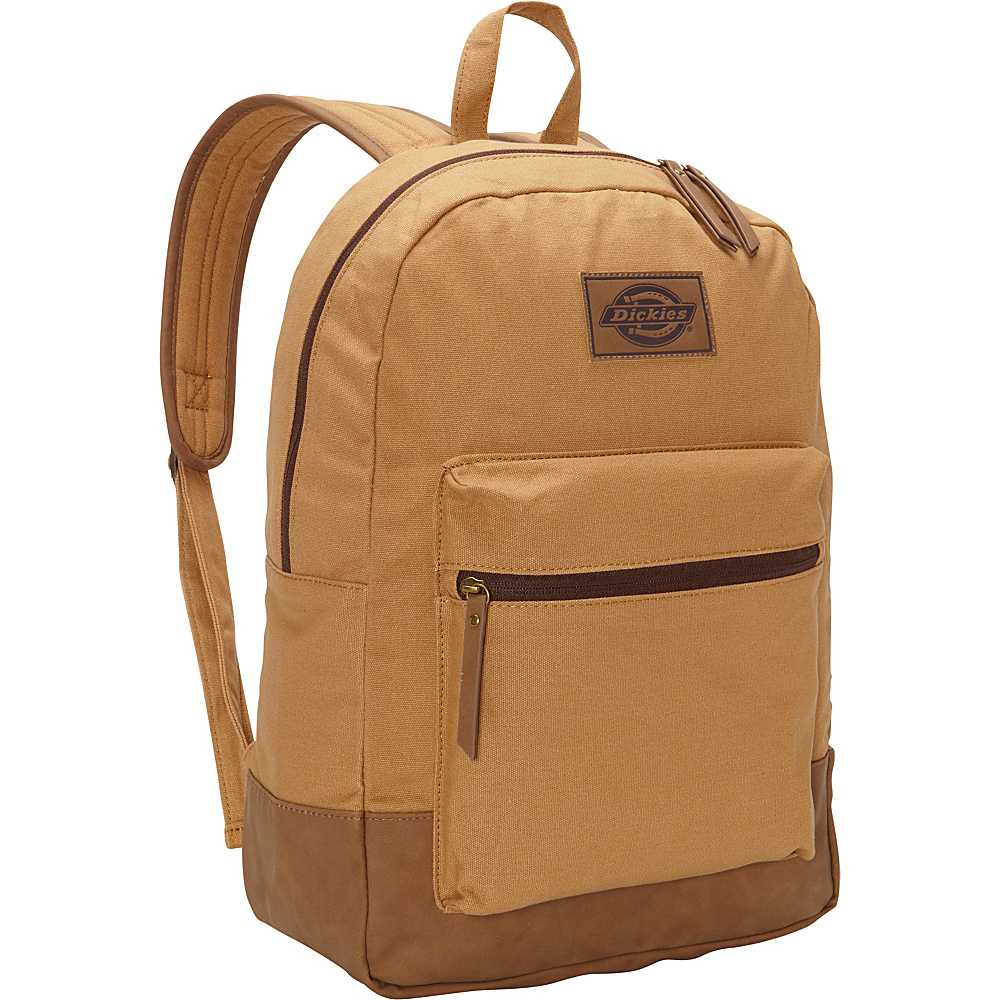 Dickies Hudson Cotton Canvas Backpack Brown Duck Dickies Everyday Backpacks