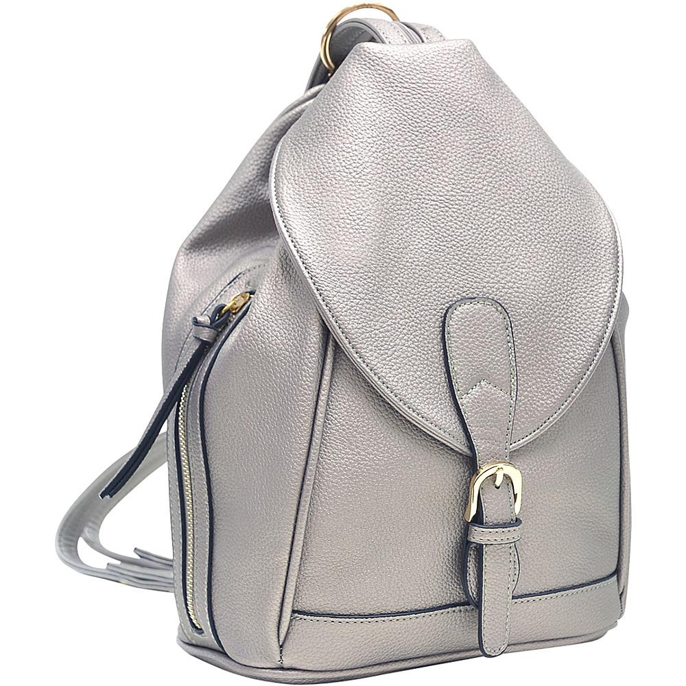 Dasein Classic Convertible Backpack/Shoulder Bag Pewter - Dasein Manmade Handbags - Handbags, Manmade Handbags