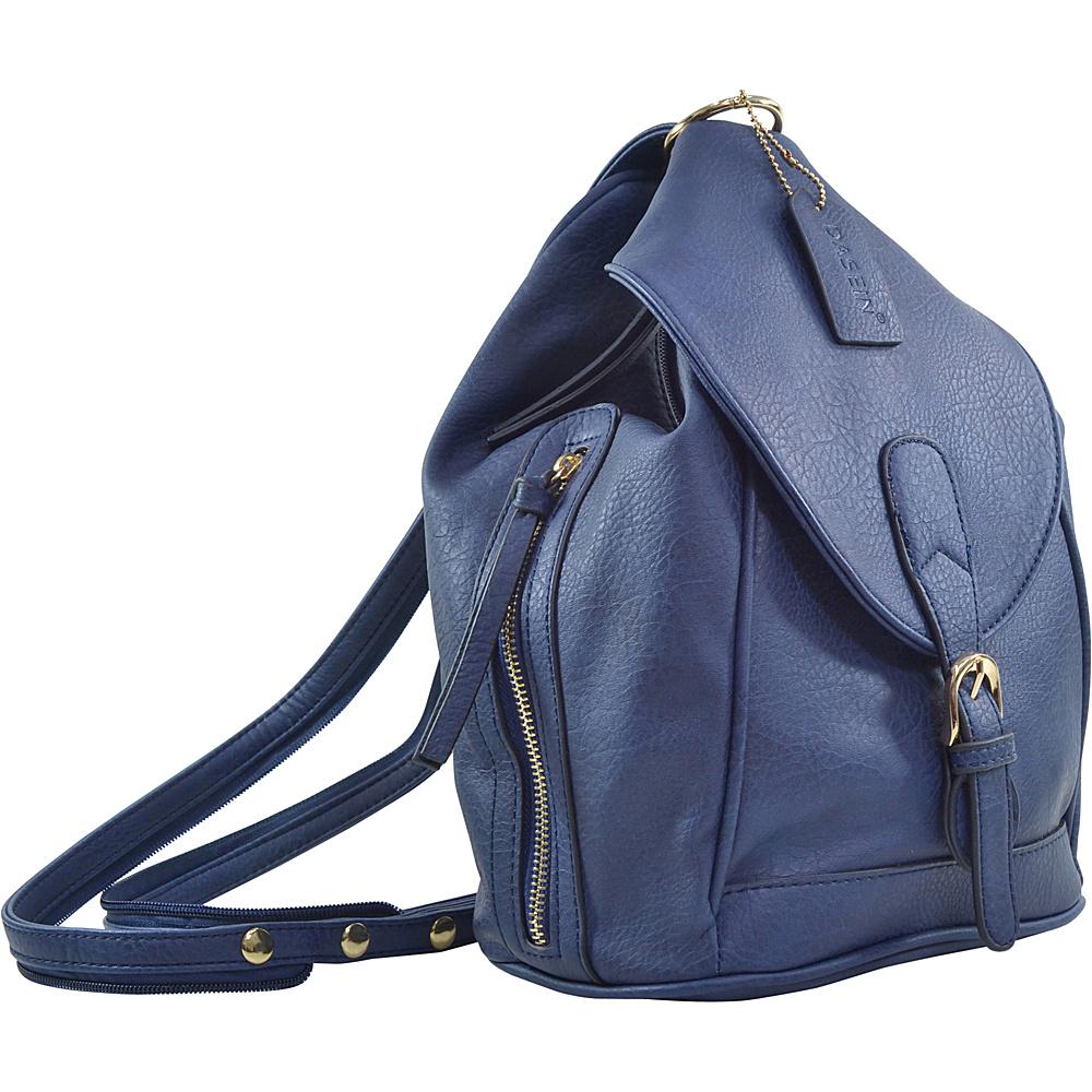Dasein Classic Convertible Backpack/Shoulder Bag Royal Blue - Dasein Manmade Handbags - Handbags, Manmade Handbags