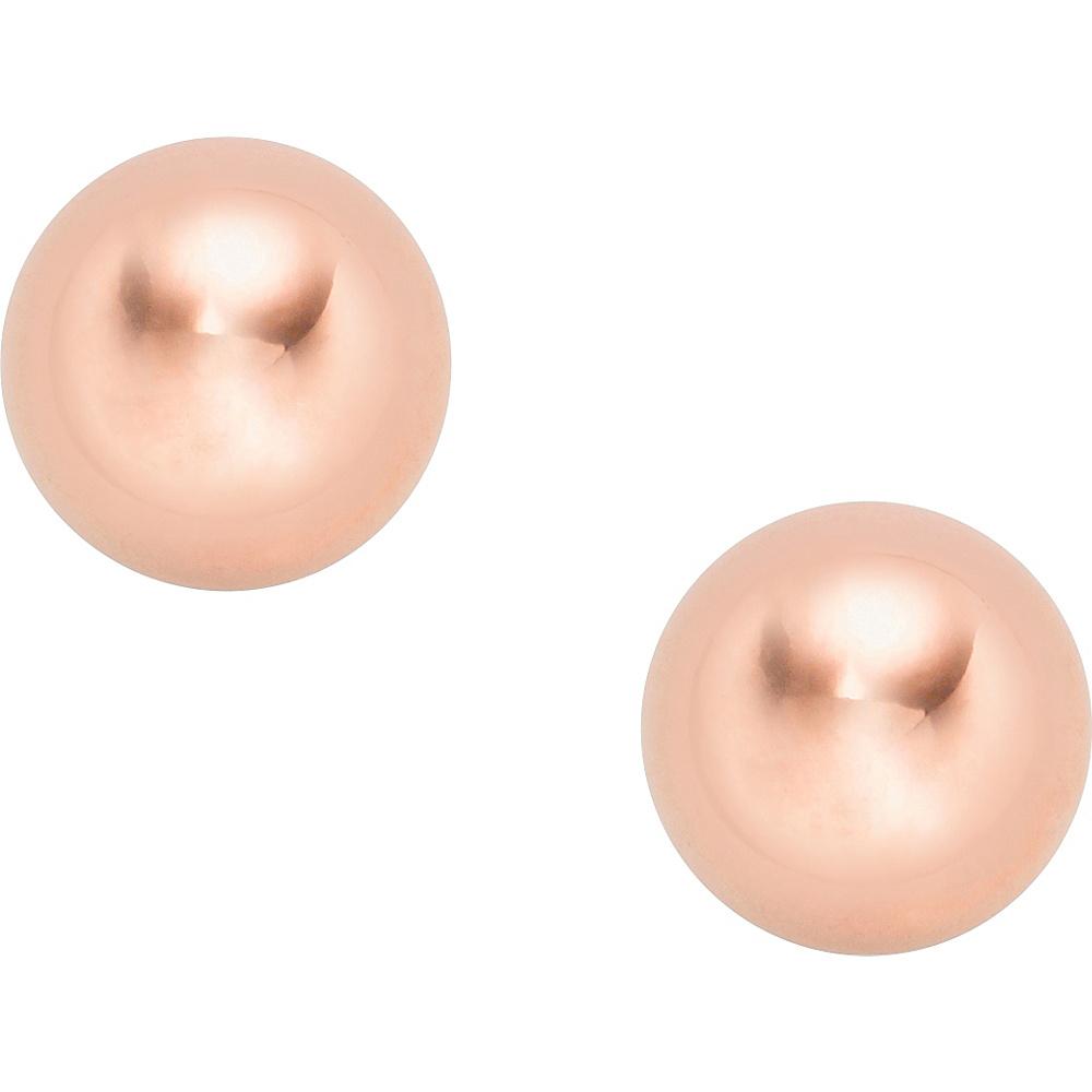 Fossil Metal Steel Stud Earrings Rose Gold - Fossil Other Fashion Accessories - Fashion Accessories, Other Fashion Accessories