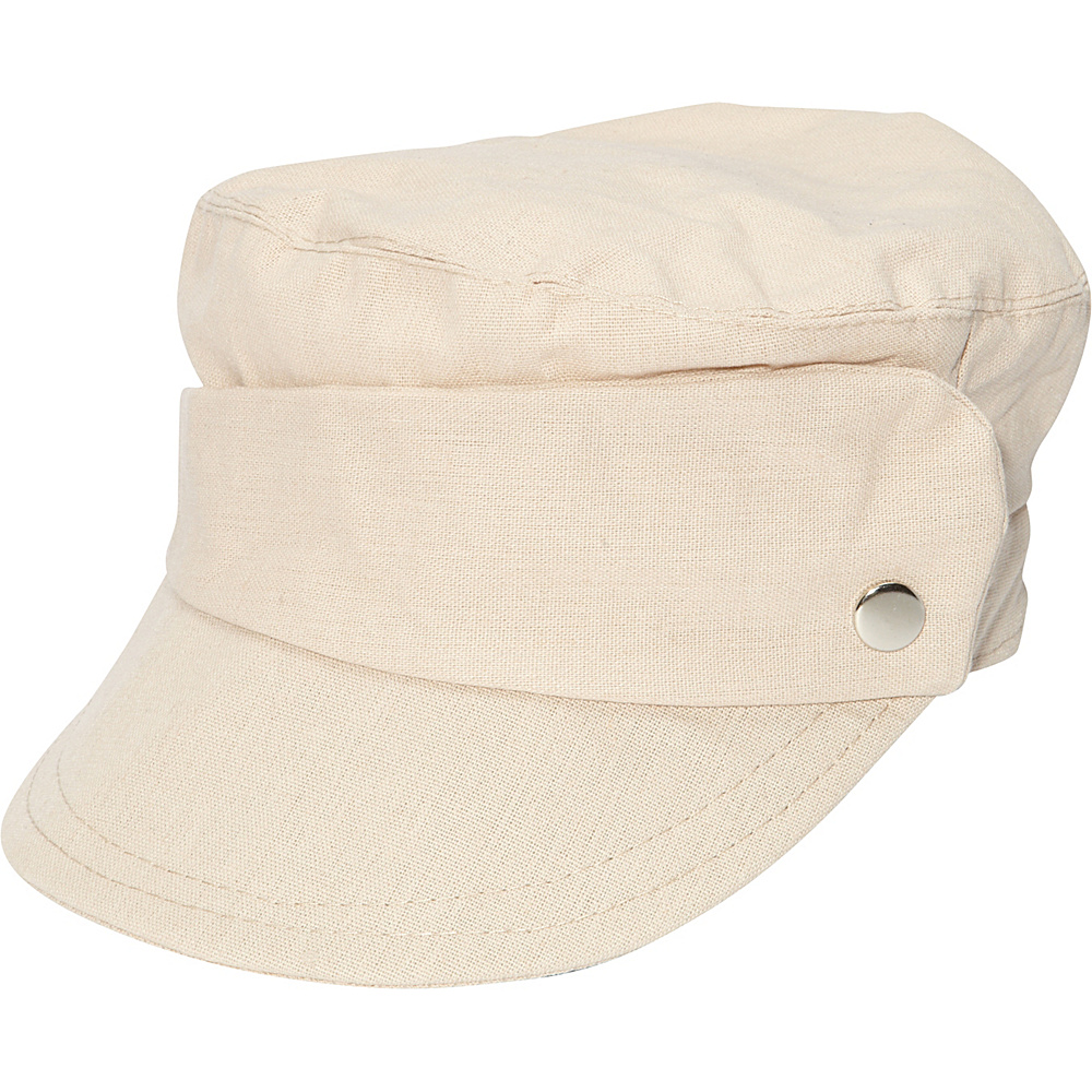Magid Asymetric band cap Natural Magid Hats Gloves Scarves