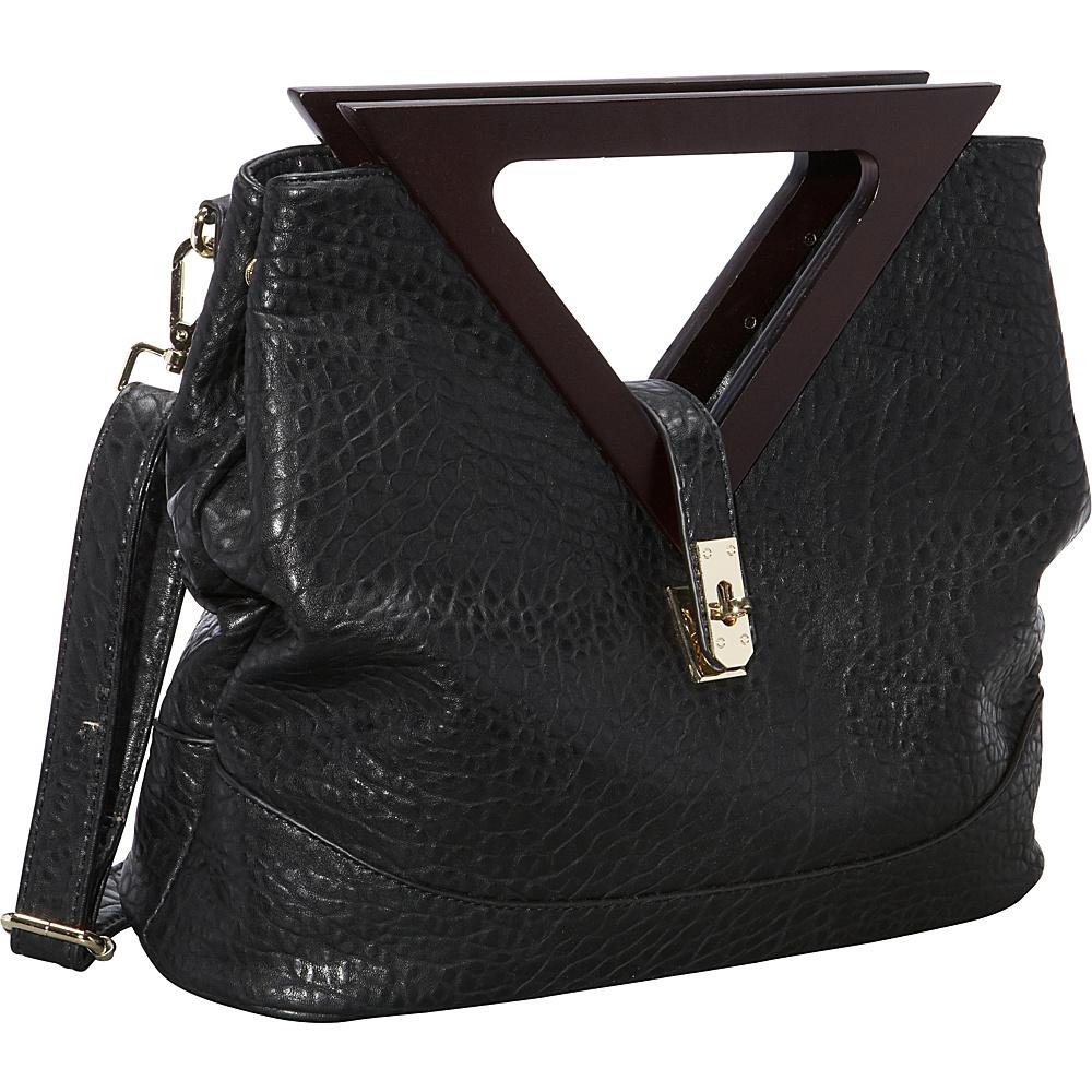 Ann Creek Triangle Handle Satchel Black Ann Creek Manmade Handbags