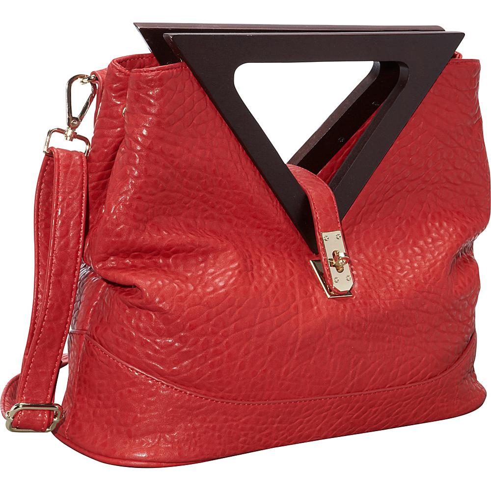 Ann Creek Triangle Handle Satchel Red Ann Creek Manmade Handbags