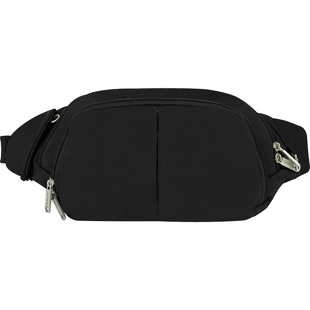 Travelon Anti-Theft Classic Light Slim Waist Pack Black/Gray - Travelon Waist Packs - Backpacks, Waist Packs
