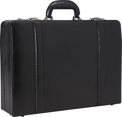 Mancini Leather Goods Expandable Attach Case Black - Mancini Leather Goods Non-Wheeled Business Cases