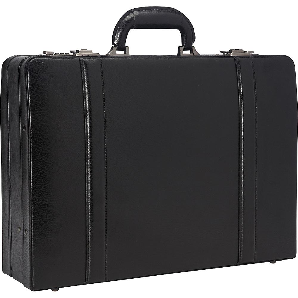 Mancini Leather Goods Expandable Attach Case Black - Mancini Leather Goods Non-Wheeled Business Cases