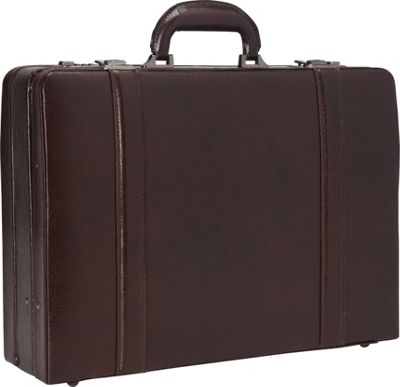 Mancini Leather Goods Expandable Attach Case Burgundy - Mancini Leather Goods Non-Wheeled Business Cases