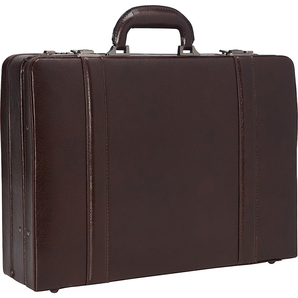 Mancini Leather Goods Expandable Attach Case Burgundy - Mancini Leather Goods Non-Wheeled Business Cases
